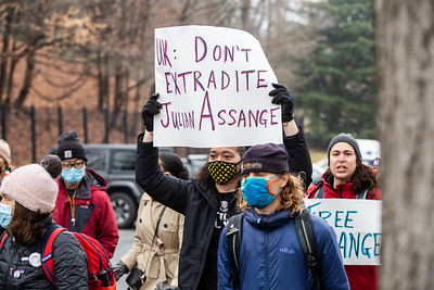 #FreeAssange, Washington DC, January 3