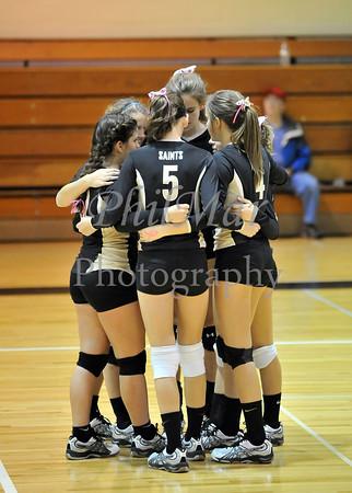 Berks Catholic VS Oley JV girls Volleyball 2011 - 2012