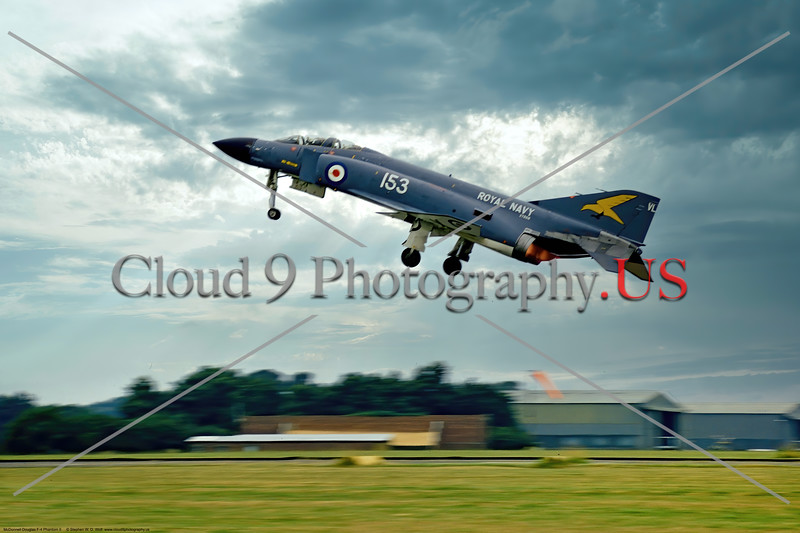 F-4-British 009 A McDonnell Douglas FG.1 Phantom II British Royal Navy Sqd 767, taking off in afterburner, 6-1969 Yeoviton, military airplane picture by Stephen W. D. Wolf     853_7409     Dt.JPG