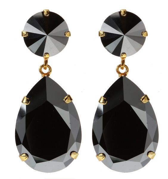 Perfect Drop Earrings / Hematite