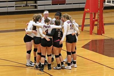 East Burke Varsity Volleyball vs South Caldwell Spartans 8-20-2019