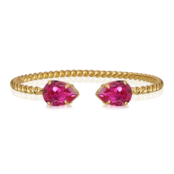 Mini Drop Bracelet / Fuchsia Gold