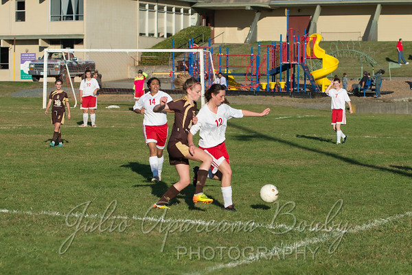 131017 Coquille Girls Soccer vs North Bend