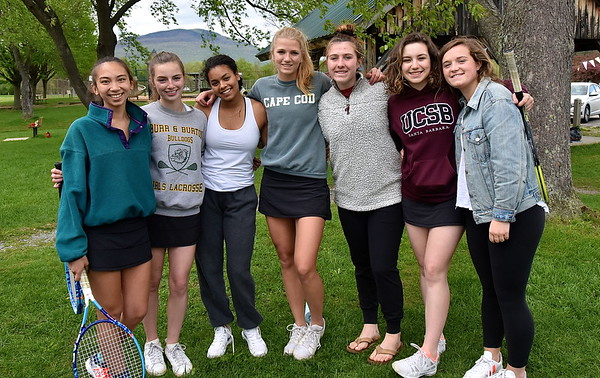 A Senior Moment... BBA Varsity Girls Tennis photos by Gary Baker