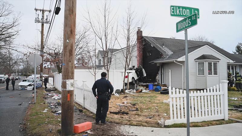 01.15.21 LI Police Officer Struck Head on, Other Vehicle Slams into House JTC