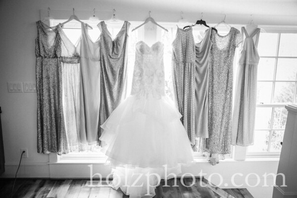 Brittany & James B/W Wedding Photos