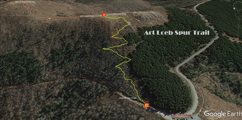 Art Loeb Spur Trail Map