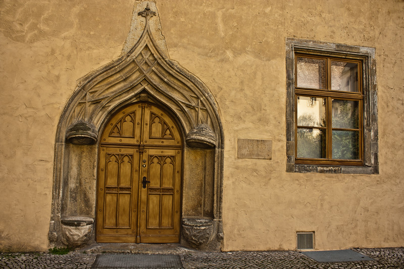In the courtyard is the ornate Katharinenportal (Katharina's Door), which was a birthday gift from Luther's wife in 1540.