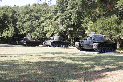 2014 10 08 Vehicles from the Armor Restoration Shop where placed at Pattons' s Park