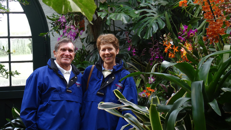 Anne Shipley and Ross Bremer in the Orchid Room at the Greenhouse on the Biltmore Estate