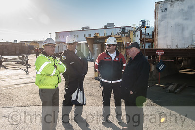 Launch of the Kiewit 201 barge at Gunderson Marine, 11/23/2013