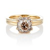 Spilt Prong Yellow Gold Solitaire Mounting, by Stuller 0
