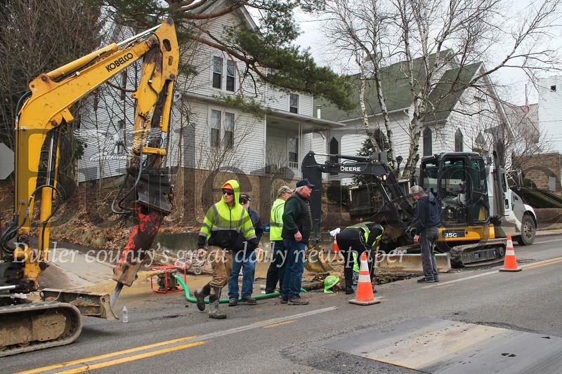 Water pipe break in Evans City