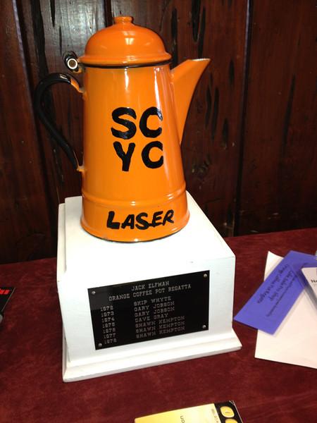 The Orange Coffee Pot Regatta trophy