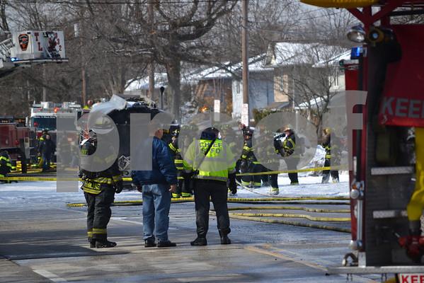 Massapequa F.D. Truck Fire 4841 Merrick Rd 2-16-14
