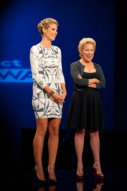 . Project Runway (L to R) Heidi Klum with guest judge Bette Midler on Project Runway season 11, premiering Thursday, January 24, at 9pm ET/PT on Lifetime. Photo by Barbara Nitke Copyright 2012