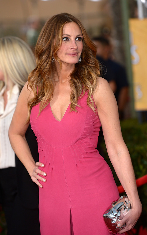 . Julia Roberts arrives at the 20th Annual Screen Actors Guild Awards  at the Shrine Auditorium in Los Angeles, California on Saturday January 18, 2014 (Photo by Michael Owen Baker / Los Angeles Daily News)