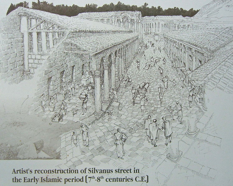 Artist's reconstruction of Silvanus St, 7th-8th centuries.