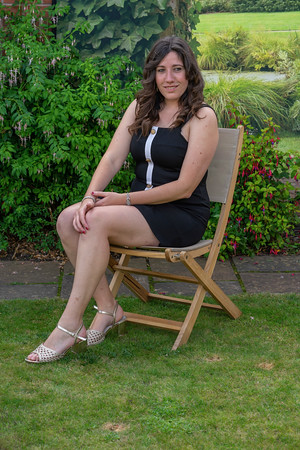 Danielle visits my garden  on a sunny summers afternoon