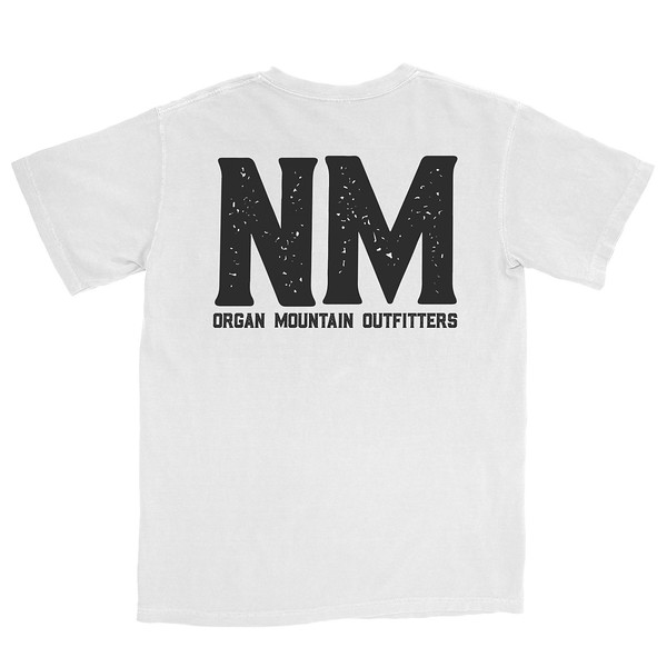 Organ Mountain Outfitters - Outdoor Apparel - Mens T-Shirt - NM Bold Tee - White Back.jpg