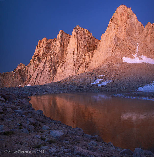 Mt. Whitney Reflection John Muir Wilderness Eastern Sierra