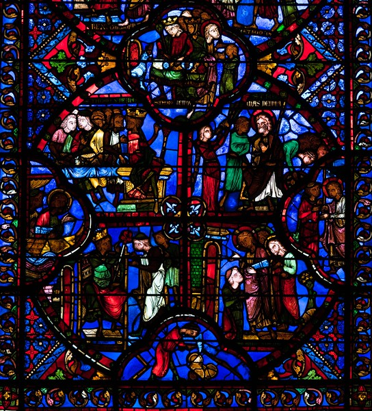 Bourges Cathedral, The Saint-Thomas Window, Thomas Leaves for India