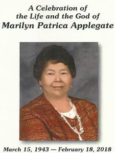 Marilyn Patricia Applegate