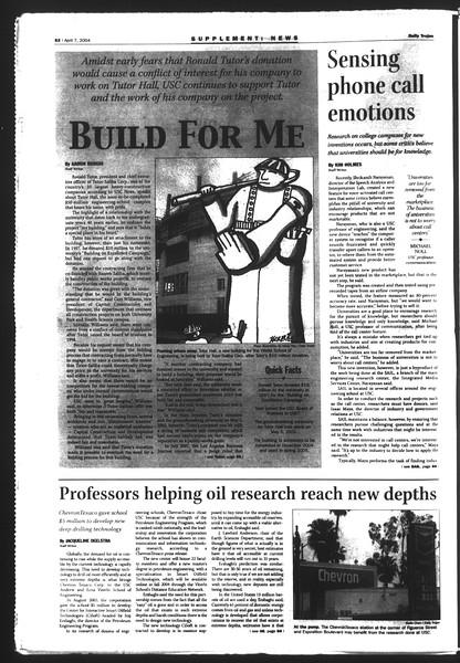 Daily Trojan, Vol. 151, No. 51, April 07, 2004