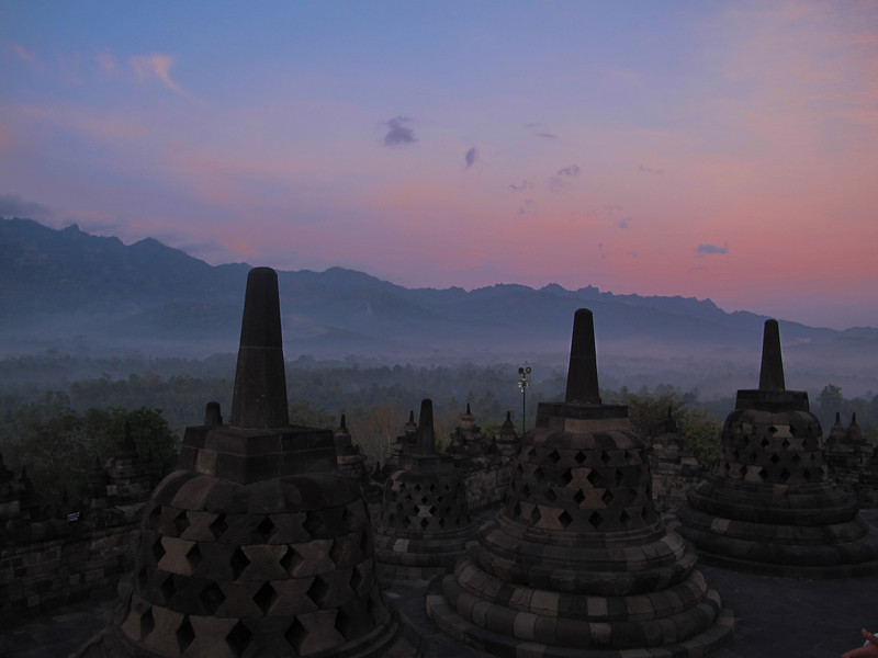 The stupas at Borobudur
