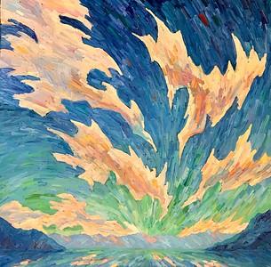 """""""The flight"""" (oil on canvas) by Genia Sheyn"""
