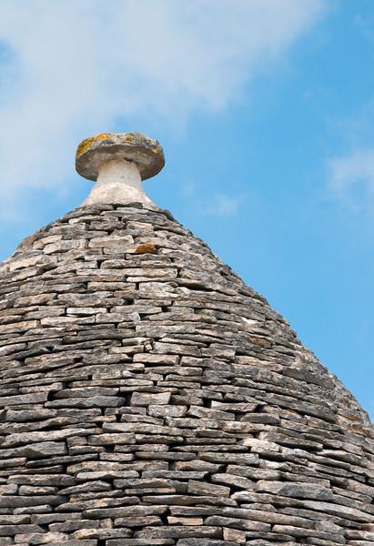Limestone Roof of Apulian Trullo, Alberobello, Puglia, Italy