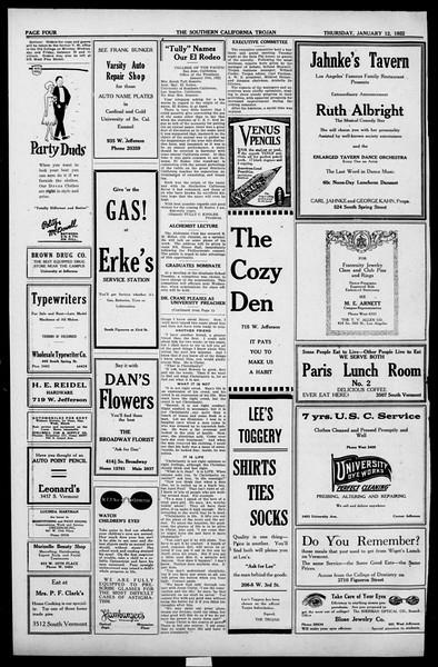 The Southern California Trojan, Vol. 13, No. 35, January 12, 1922