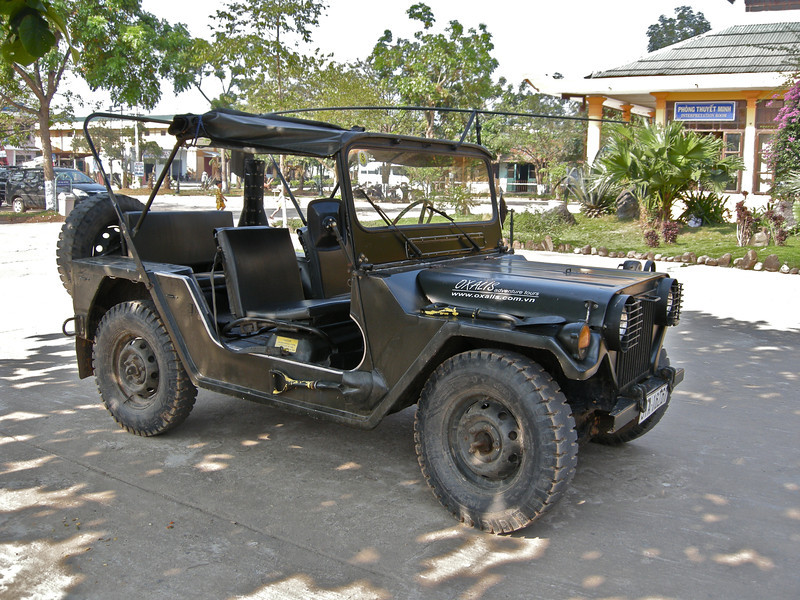 The old army jeep we travelled in to Phong Nha