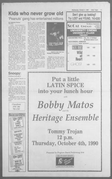 Daily Trojan, Vol. 113, No. 22, October 03, 1990