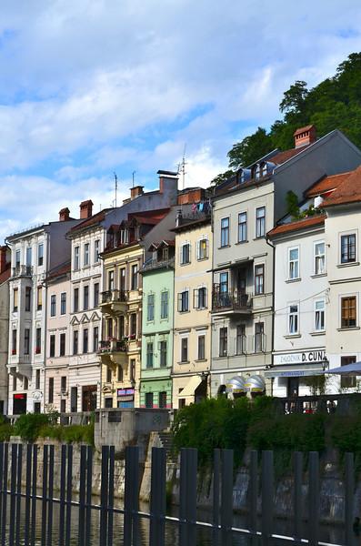Houses on the Ljubljanica River. Ljubljana