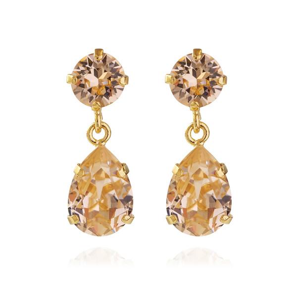 Mini Drop Earrings / Light Peach Gold
