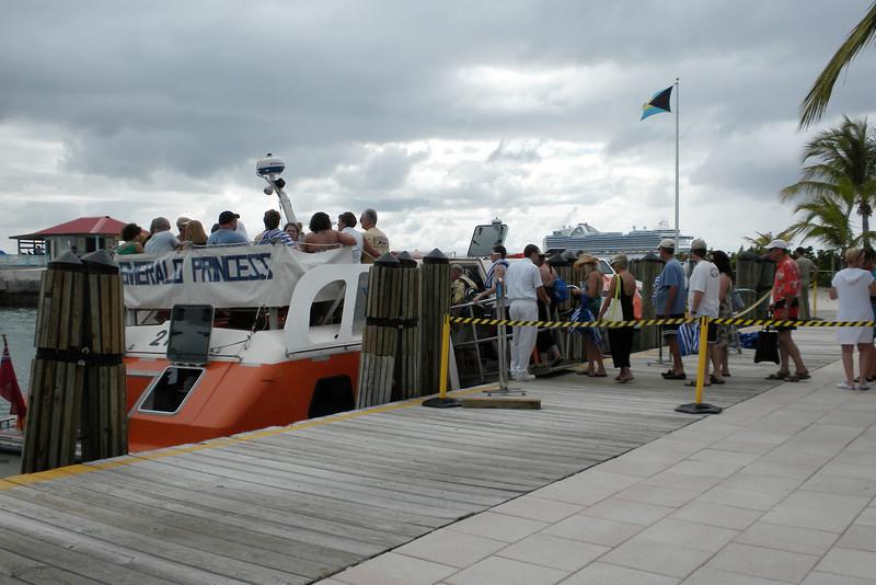 Leaving Princess Cays, Eleuthera Island, to return to the Emerald Princess