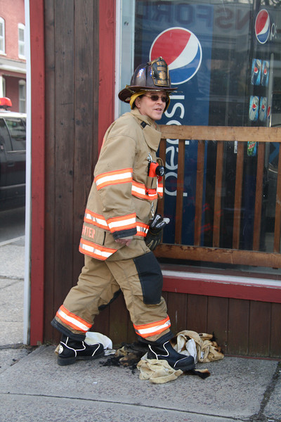 Fire Response, Lansford Laundromat, Lansford (2-23-2012)