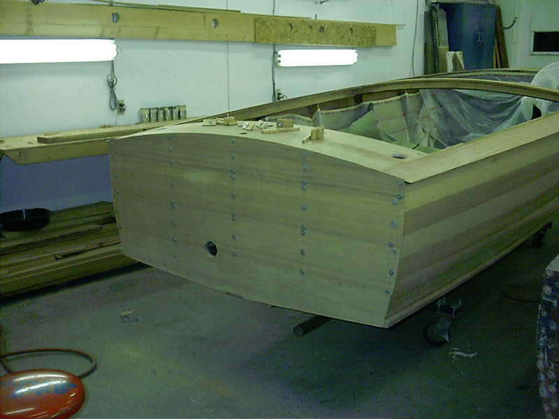 Transom planks fit.