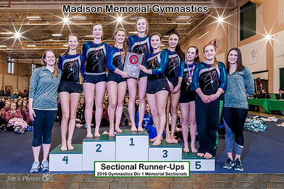 HS Sports - Gymnastics - Sectionals [d] Feb 27, 2016