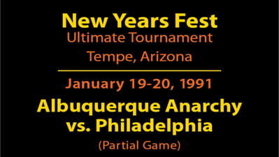 1991 NYF - ABQ vs. Philly