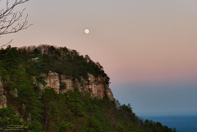 Full Moon Over Pilot Mountain, NC