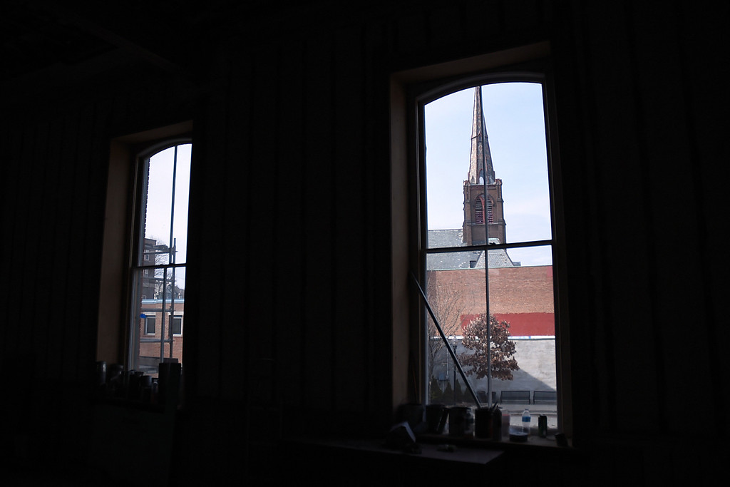 . Kayla Rice/Reformer Downtown Brattleboro seen from inside the Brooks House.