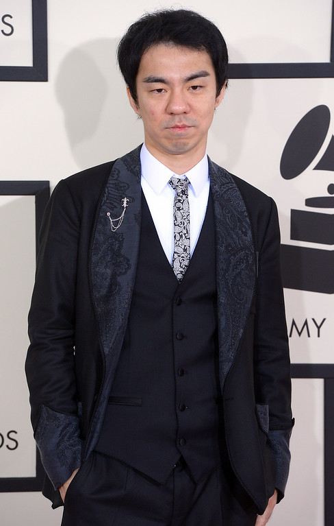 . Masanori arrives at the 56th Annual GRAMMY Awards at Staples Center in Los Angeles, California on Sunday January 26, 2014 (Photo by David Crane / Los Angeles Daily News)