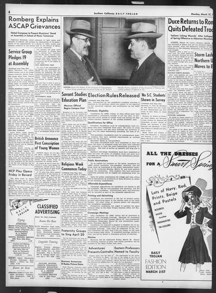 Daily Trojan, Vol. 32, No. 102, March 17, 1941