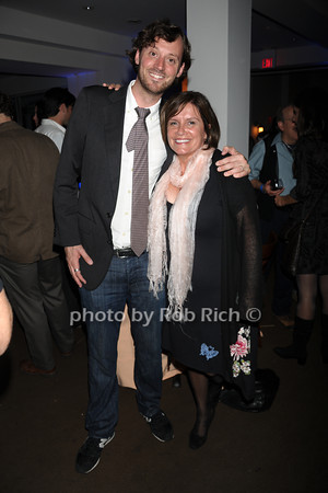 HIFF director of programming David Nugent and HIFF executive director Karen Arikian attend the openig night party of the Hamptons International Film Festival at East Hampton Point (October 13, 2011)