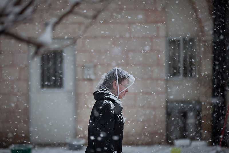 . An Ultra-orthodox Jewish woman walks in the snow in the Mea Shearim religious neighborhood on January 10, 2013 in Jerusalem, Israel.  (Photo by Uriel Sinai/Getty Images)