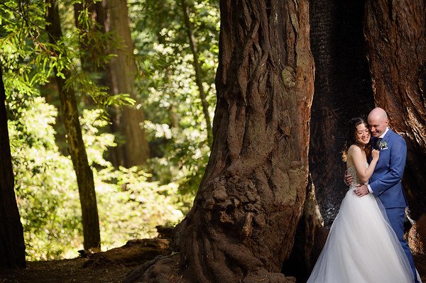 Ling and Brian Elopement @ Henry Cowell Redwoods, Felton