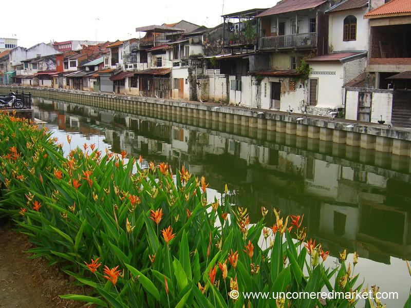 Riverfront Flowerbed - Melaka, Malaysia
