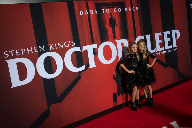 "LOS ANGELES, CALIFORNIA - OCTOBER 29: Kk Heim and Sadie Heim attend the premiere of Warner Bros Pictures' ""Doctor Sleep"" at Westwood Regency Theater on Tuesday October 29, 2019 in Los Angeles, California. (Photo by Tom Sorensen/Moovieboy Pictures,)"